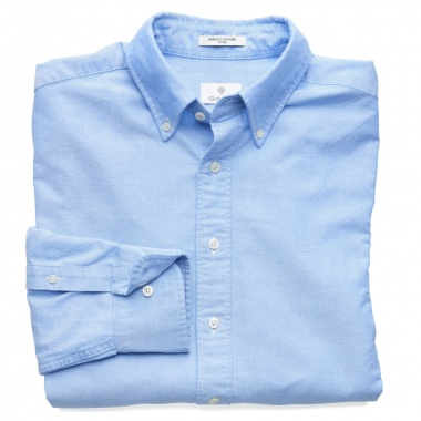 Camisa Oxford logo bordado