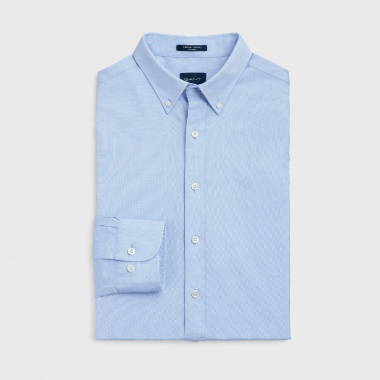 Camisa Oxford Pinpoint Azul Cielo Gant