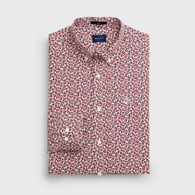 Camisa Estampada granate