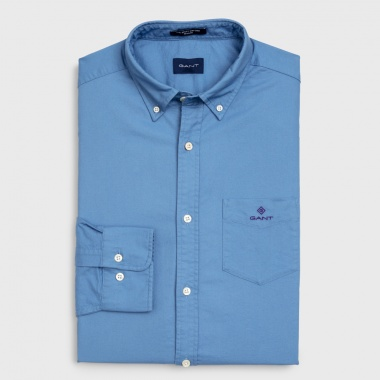 Camisa oxford lisa azul