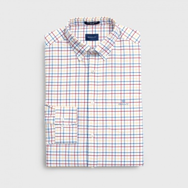 Camisa Perfect Oxford cuadros rojo