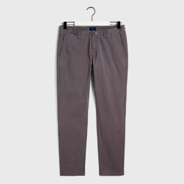 Chino satinado Slim gris antracita