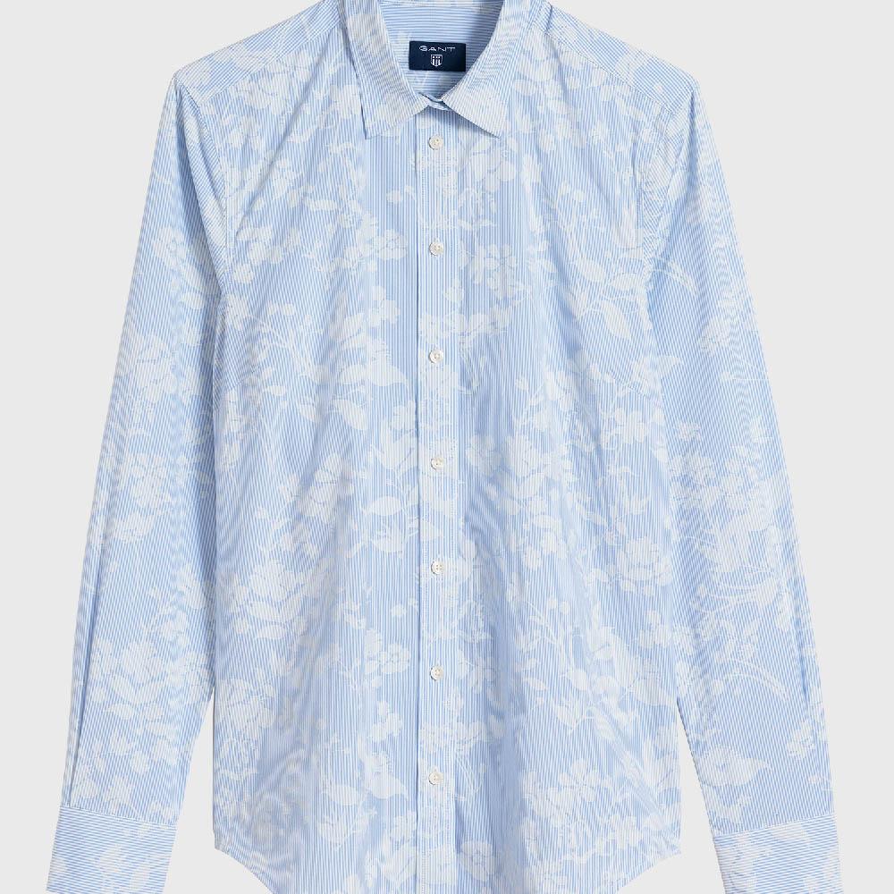 dbc57a481 Camisa de rayas finas con estampado de flores Gant