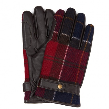 Guantes en Tartán Rojo Newbrough