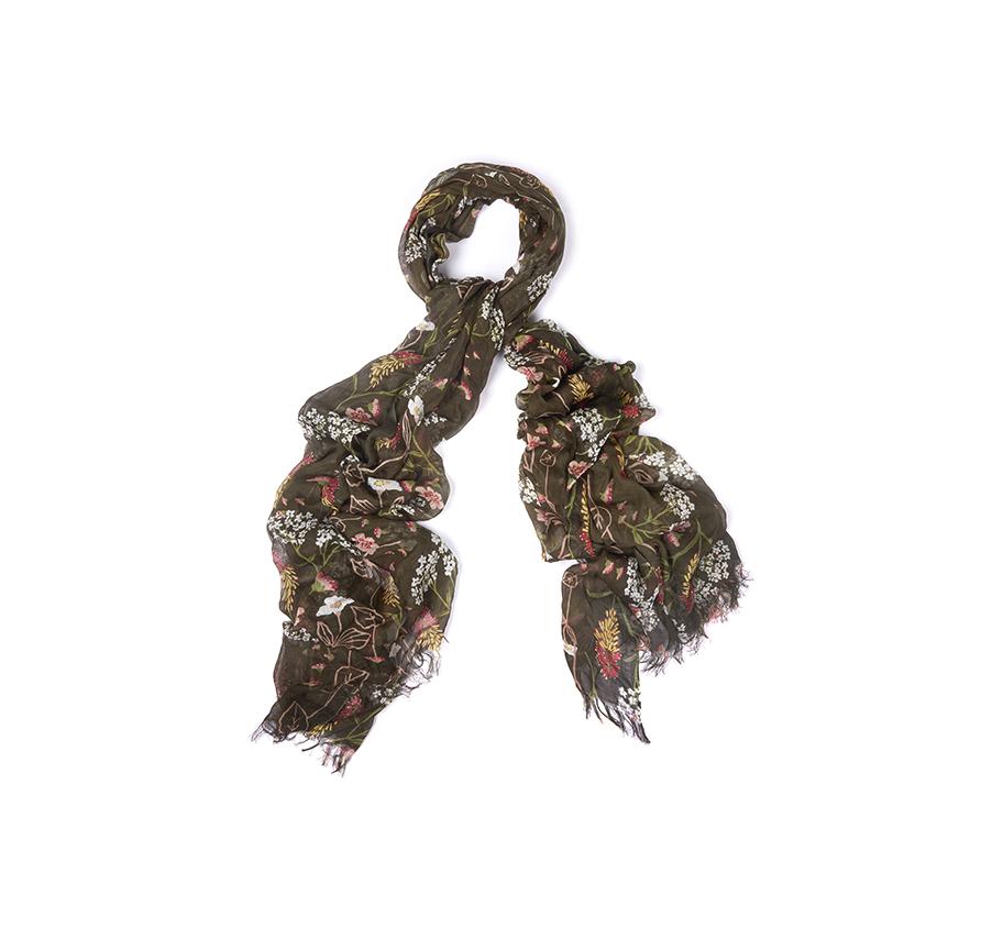 Foulard Floral Estampado Barbour  78e41ea0c642
