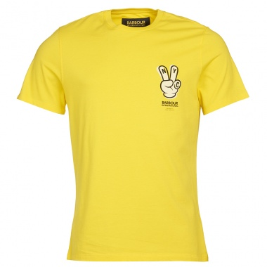 Camiseta Saturdays NYC Peace amarillo
