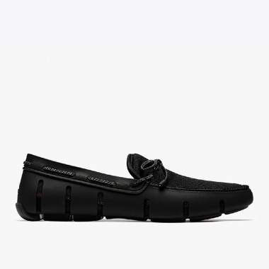 Mocasines Braided Lace negro